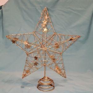 Golden stars tree topper